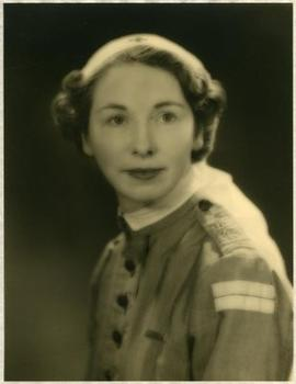 Margot Cox in nurse's uniform